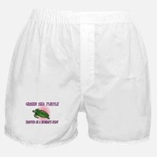 Green Sea Turtle Trapped In A Woman's Body Boxer S