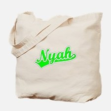 Retro Nyah (Green) Tote Bag