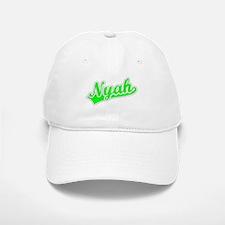 Retro Nyah (Green) Baseball Baseball Cap