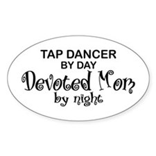 Tap Dance Devoted Mom Oval Decal