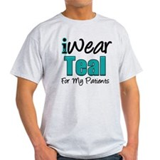 I Wear Teal Patients v1 T-Shirt