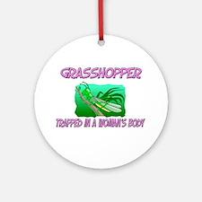 Grasshopper Trapped In A Woman's Body Ornament (Ro