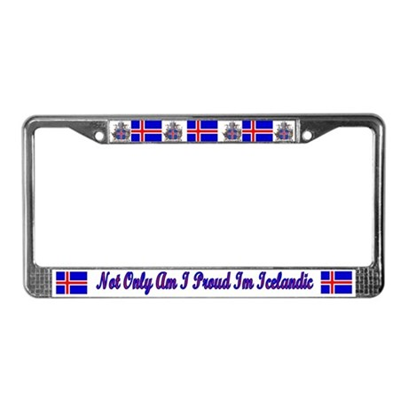 Not Only Proud IcelandicLicense Plate Frame
