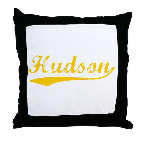 Vintage Hudson (Orange) Throw Pillow