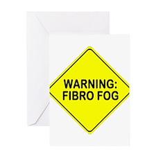 Warning: Fibro Fog Greeting Card