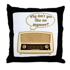 Sad Radio Throw Pillow