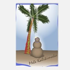 Palm Tree & Sand Woman Postcards (Package of 8