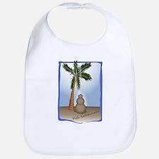Palm Tree & Sand Woman Bib