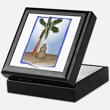 Palm Tree & Sand Woman Keepsake Box