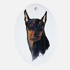 German Pinscher portrait Oval Ornament