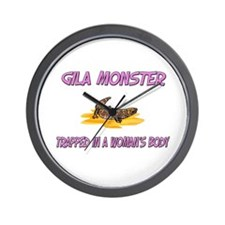 Gila Monster Trapped In A Woman's Body Wall Clock