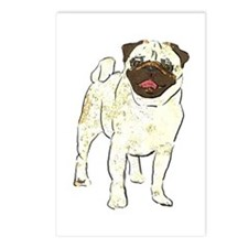 Happy Pug Postcards (Package of 8)