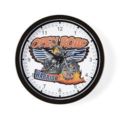Open Road Motorcycle Wall Clock