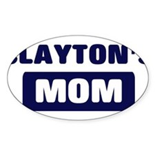 CLAYTON Mom Oval Decal