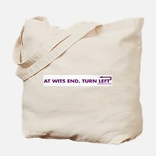 AT WITS END, TURN LEFT Tote Bag