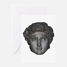 David's head by Michelangelo Greeting Card