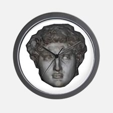 David's head by Michelangelo Wall Clock