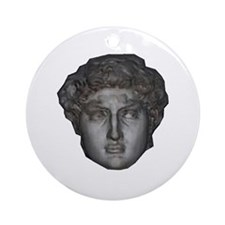 David's head by Michelangelo Ornament (Round)