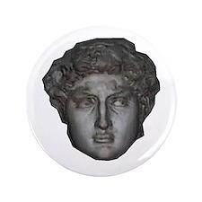 """David's head by Michelangelo 3.5"""" Button"""