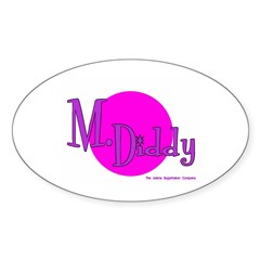M. Diddy Prison Nickname Oval Decal