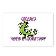 Gecko Trapped In A Woman's Body Postcards (Package