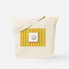 Daisy (orange) Tote Bag