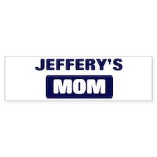 JEFFERY Mom Bumper Bumper Sticker