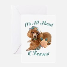 Poodle Has Class Greeting Card