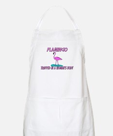 Flamingo Trapped In A Woman's Body BBQ Apron