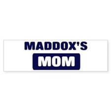 MADDOX Mom Bumper Bumper Sticker