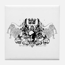 Winged Skull and Crown Tile Coaster