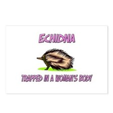 Echidna Trapped In A Woman's Body Postcards (Packa