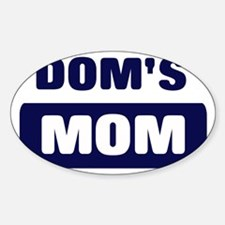 DOM Mom Oval Decal