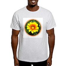 Treasure Flower Ash Grey T-Shirt