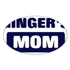 GINGER Mom Oval Decal