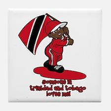 Someone in Trinidad loves me Tile Coaster