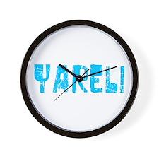 Yareli Faded (Blue) Wall Clock