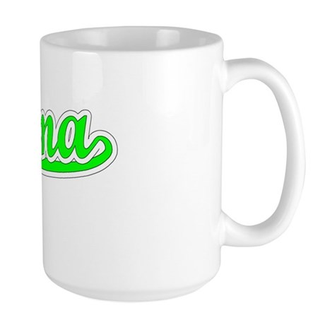 Retro Paloma (Green) Large Mug