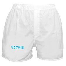 Yazmin Faded (Blue) Boxer Shorts