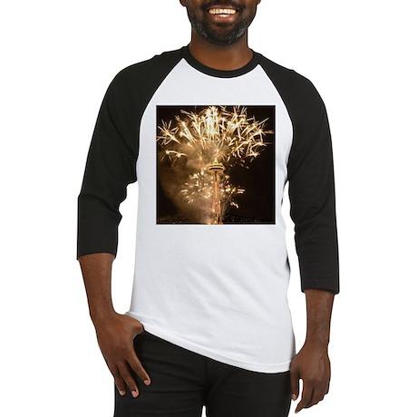 Seattle Space Needle Fireworks Baseball Jersey