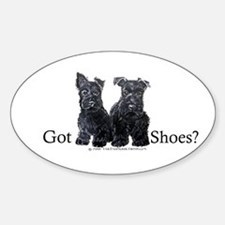 Scottie Puppies - Got Shoes Oval Decal