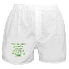 Funny Tree Hugger Joke Boxer Shorts