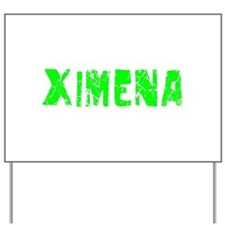 Ximena Faded (Green) Yard Sign
