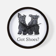 Scottie Puppies - Got Shoes Wall Clock