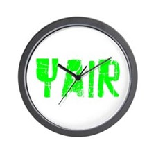 Yair Faded (Green) Wall Clock