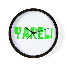 Yareli Faded (Green) Wall Clock