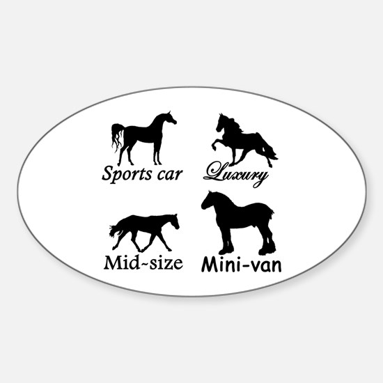 Horse Cars Oval Decal
