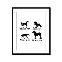 Horse Cars Framed Panel Print