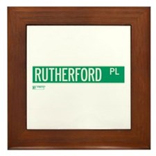 Rutherford Place in NY Framed Tile