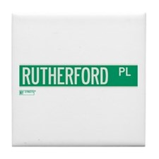 Rutherford Place in NY Tile Coaster